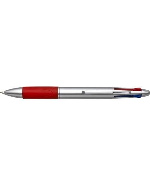 Penna a sfera in plastica 4 colori