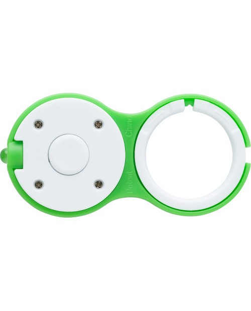 Portachiavi bicolore con luce LED
