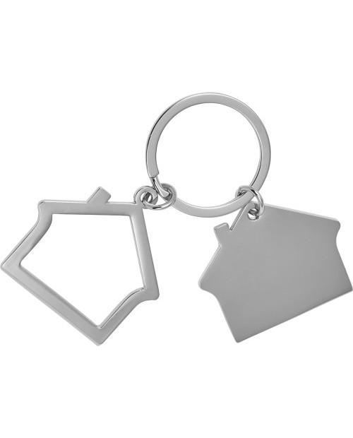 Portachiavi in lega di zinco a forma di casa