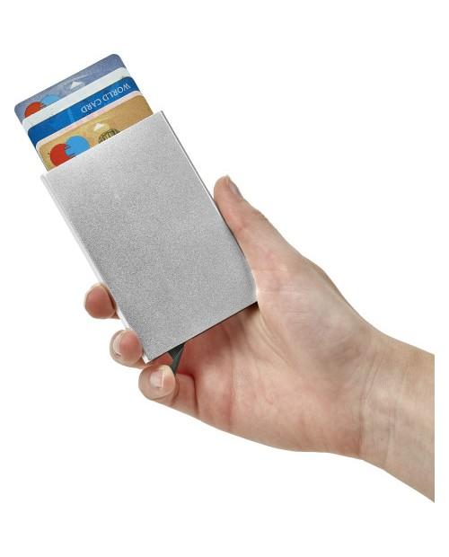 Portacarte in alluminio con RFID.