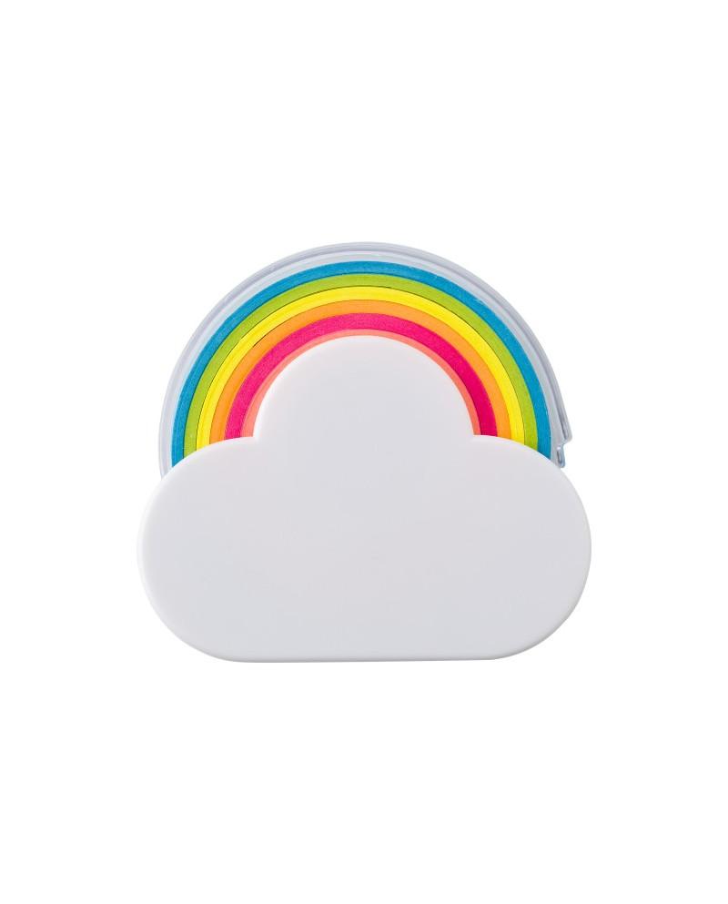 Dispenser memo adesivi a forma di nuvola e arcobaleno